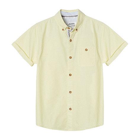J by Jasper Conran - Designer boy+s yellow oxford shirt