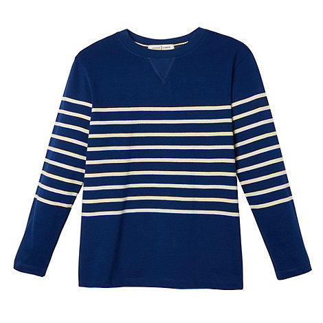 J by Jasper Conran - Designer navy striped crew neck sweater