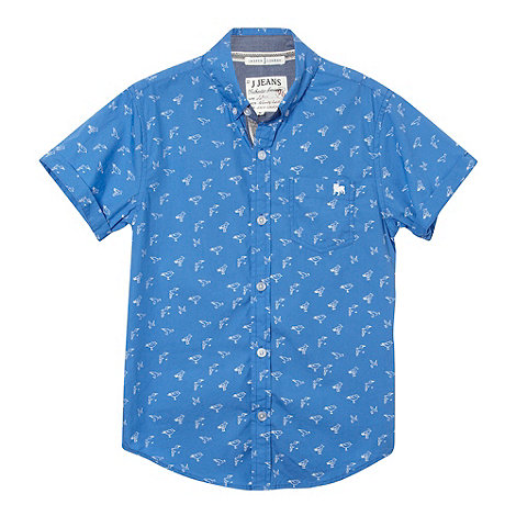 J by Jasper Conran - Designer boy+s blue seagull print shirt