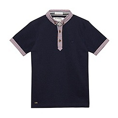 J by Jasper Conran - Designer boy's navy gingham collar pique polo shirt