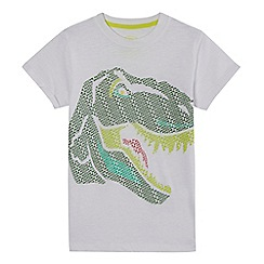 bluezoo - Boys' white 'Awesome' dinosaur print t-shirt