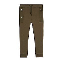 bluezoo - Boys' khaki textured panel jogging bottoms