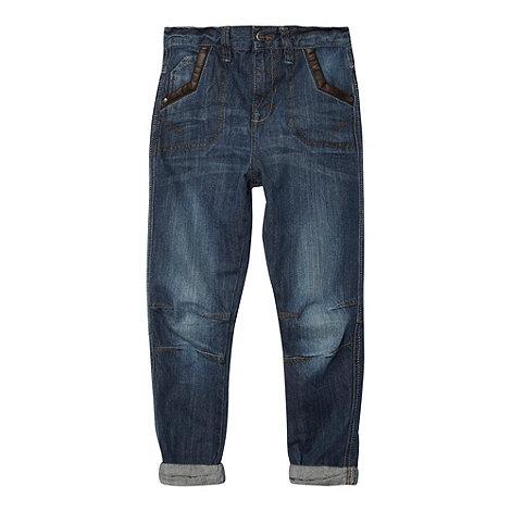 RJR.John Rocha - Designer boy+s blue carrot leg jeans