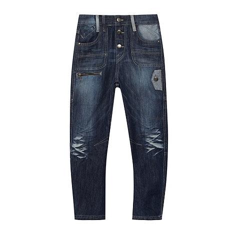 RJR.John Rocha - Designer boy+s blue faded slouch jeans