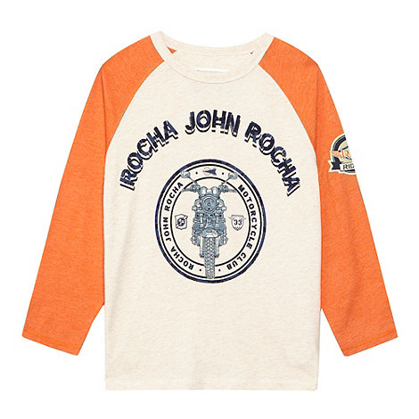 RJR.John Rocha - Designer boy+s natural raglan sleeve top