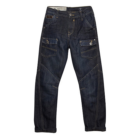 RJR.John Rocha - Designer boy+s dark blue multiple pocket slim leg jeans