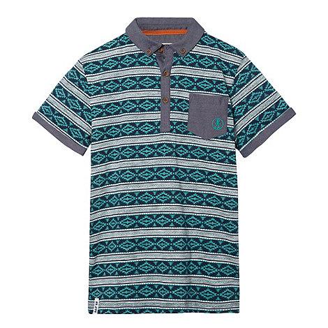 RJR.John Rocha - Designer boy+s green aztec printed polo shirt