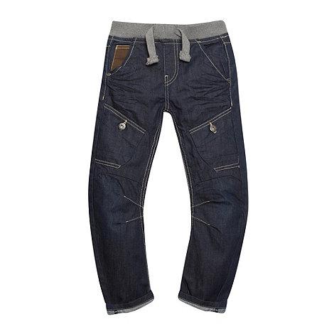 RJR.John Rocha - Designer boy+s blue coated bow leg jeans