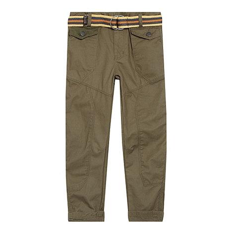 RJR.John Rocha - Designer boy+s khaki belted combat trousers
