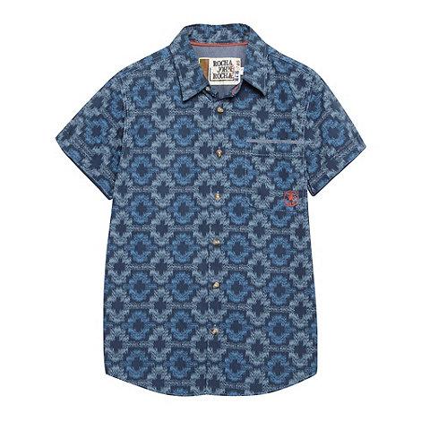 RJR.John Rocha - Designer boy+s blue tribal dye shirt