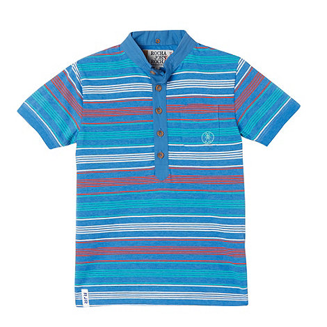 RJR.John Rocha - Designer boy+s blue multi striped polo shirt