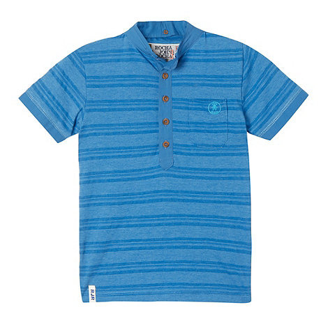 RJR.John Rocha - Designer boy+s blue striped polo shirt