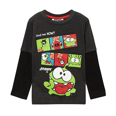 Cut the Rope - Boy's dark grey 'Cut the Rope' film reel printed top