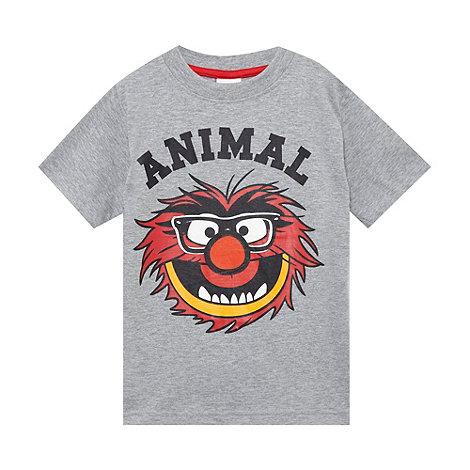 Muppets - Boy+s grey +Animal+ print t-shirt
