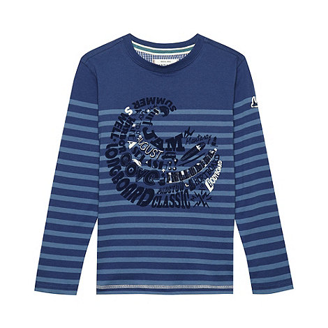Mantaray - Boy+s blue striped wave top