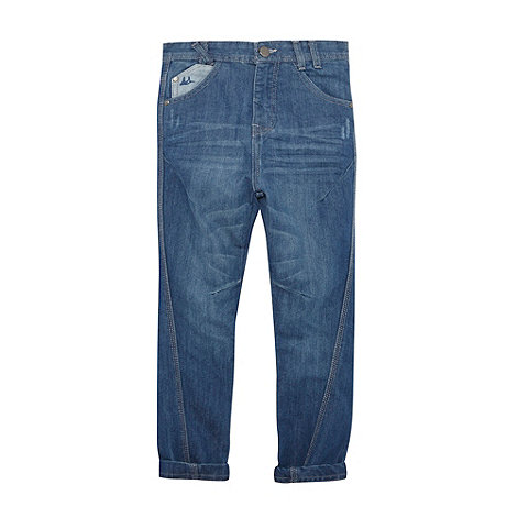 Mantaray - Boy+s blue twisted seam jeans