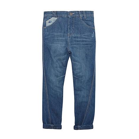 Mantaray - Boy+s blue twisted seam jeans