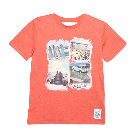 Mantaray - Boy+s red beach photo t-shirt