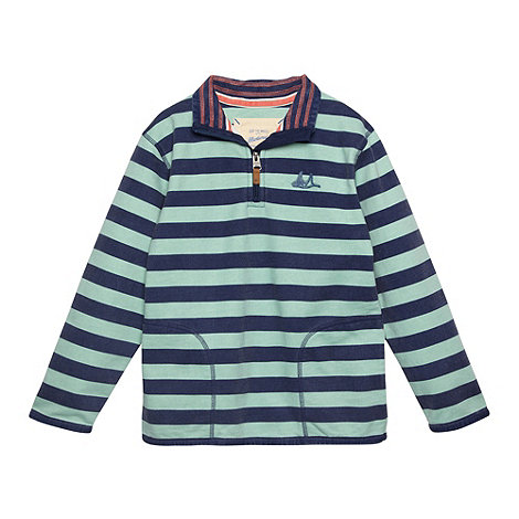 Mantaray - Boy+s green striped jumper
