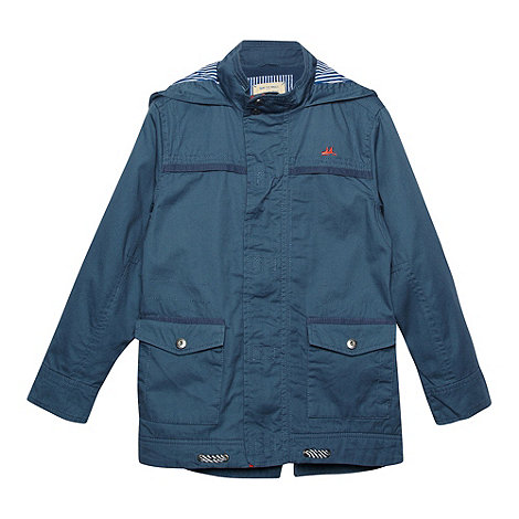Mantaray - Boy+s blue twill parka jacket