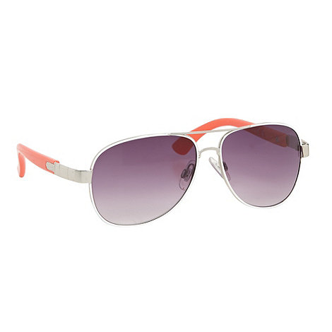 Mantaray - Boy+s metal orange aviator sunglasses