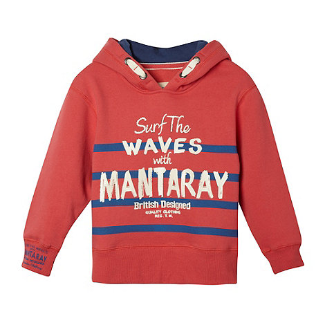 Mantaray - Boy+s peach +Surf the Waves+ hoodie