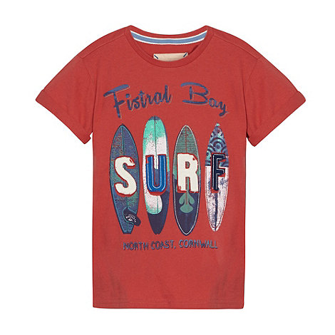 Mantaray - Boy+s red +SURF+ t-shirt