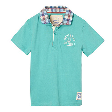 Mantaray - Boy+s green shirt collar polo shirt
