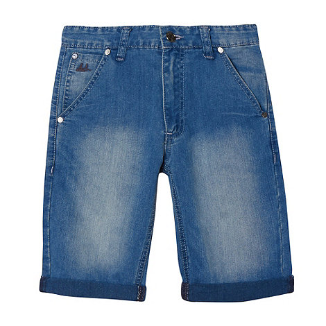 Mantaray - Boy+s blue denim shorts
