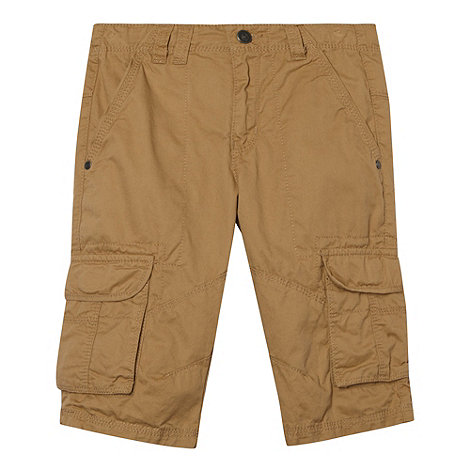 Mantaray - Boy+s natural twill cargo shorts