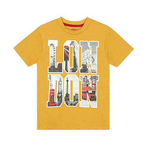 bluezoo - Boy+s mustard +London+ t-shirt