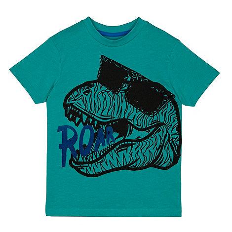 bluezoo - Boy+s green dinosaur t-shirt