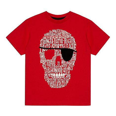 bluezoo - Boy+s red skull t-shirt