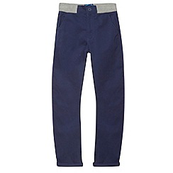 bluezoo - Boy's navy carrot leg chinos
