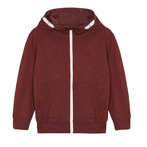 bluezoo - Boy+s wine zip through hoodie