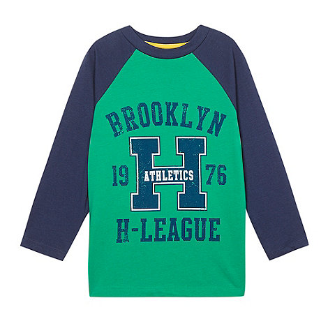 bluezoo - Boy+s green +Brooklyn Athletics+ printed top
