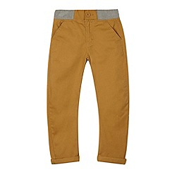 bluezoo - Boy's dark tan carrot leg chinos