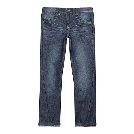 bluezoo - Boy+s blue slim twisted leg jeans