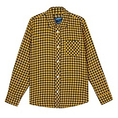 bluezoo - Boy's yellow gingham shirt