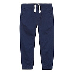 bluezoo - Boy's navy ribbed cuff trousers
