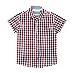 J by Jasper Conran - Designer boy's blue gingham checked shirt