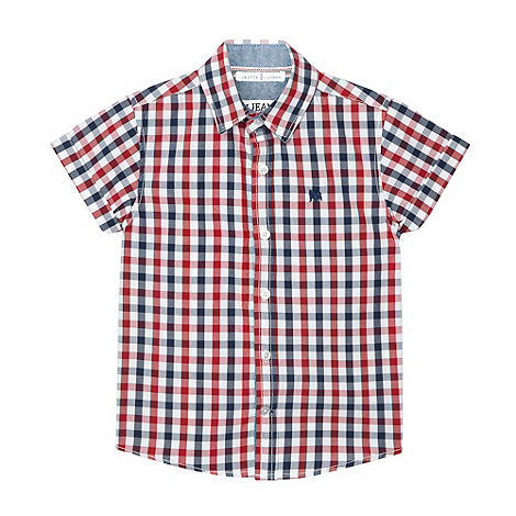 J by Jasper Conran - Designer boy+s blue gingham checked shirt