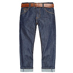 J by Jasper Conran - Designer boy's navy PU belted jeans