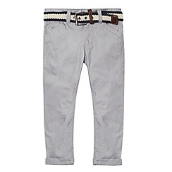 J by Jasper Conran - Designer boy's grey belted slim fit chinos