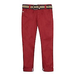 J by Jasper Conran - Designer boy's red belted chinos