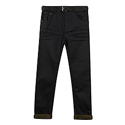 RJR.John Rocha - Designer boy's black belted regular jeans