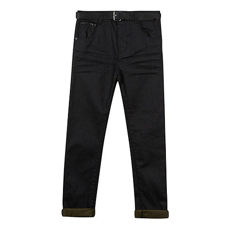 RJR.John Rocha - Designer boy+s black belted regular jeans