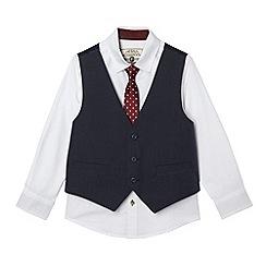 RJR.John Rocha - Designer boy's navy waistcoat shirt and tie set