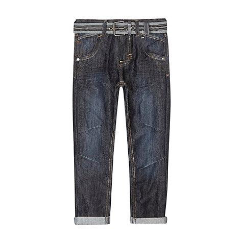 RJR.John Rocha - Designer boy+s blue belted slim fit jeans