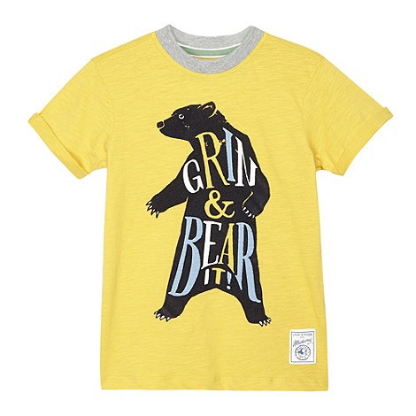 Mantaray - Boy+s yellow bear t-shirt
